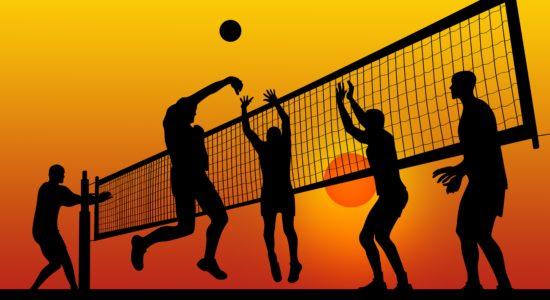 sport voleibol miach setka sportsmeny muzhchiny