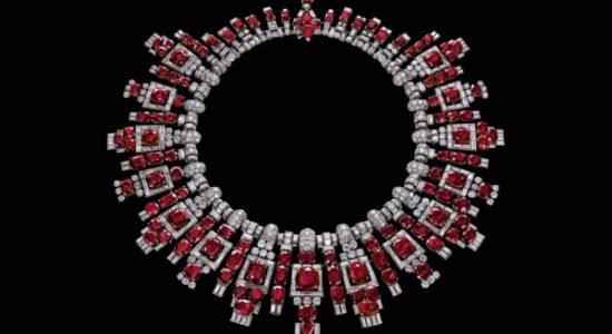 al thani collezione gioielli collier rubini cartier