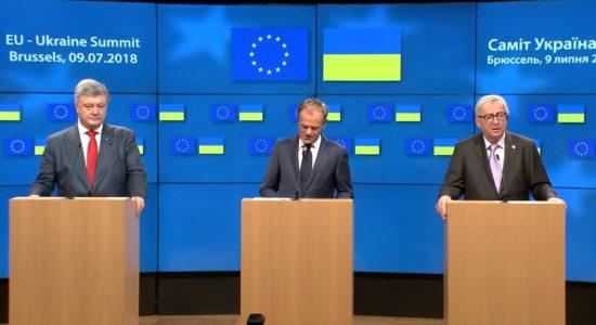 На Саміті Україна-ЄС підтримали політв'язнів, яких утримує Росія