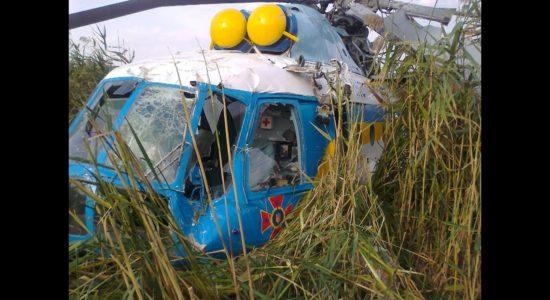 На Харківщині під час гасіння лісової пожежі впав вертоліт
