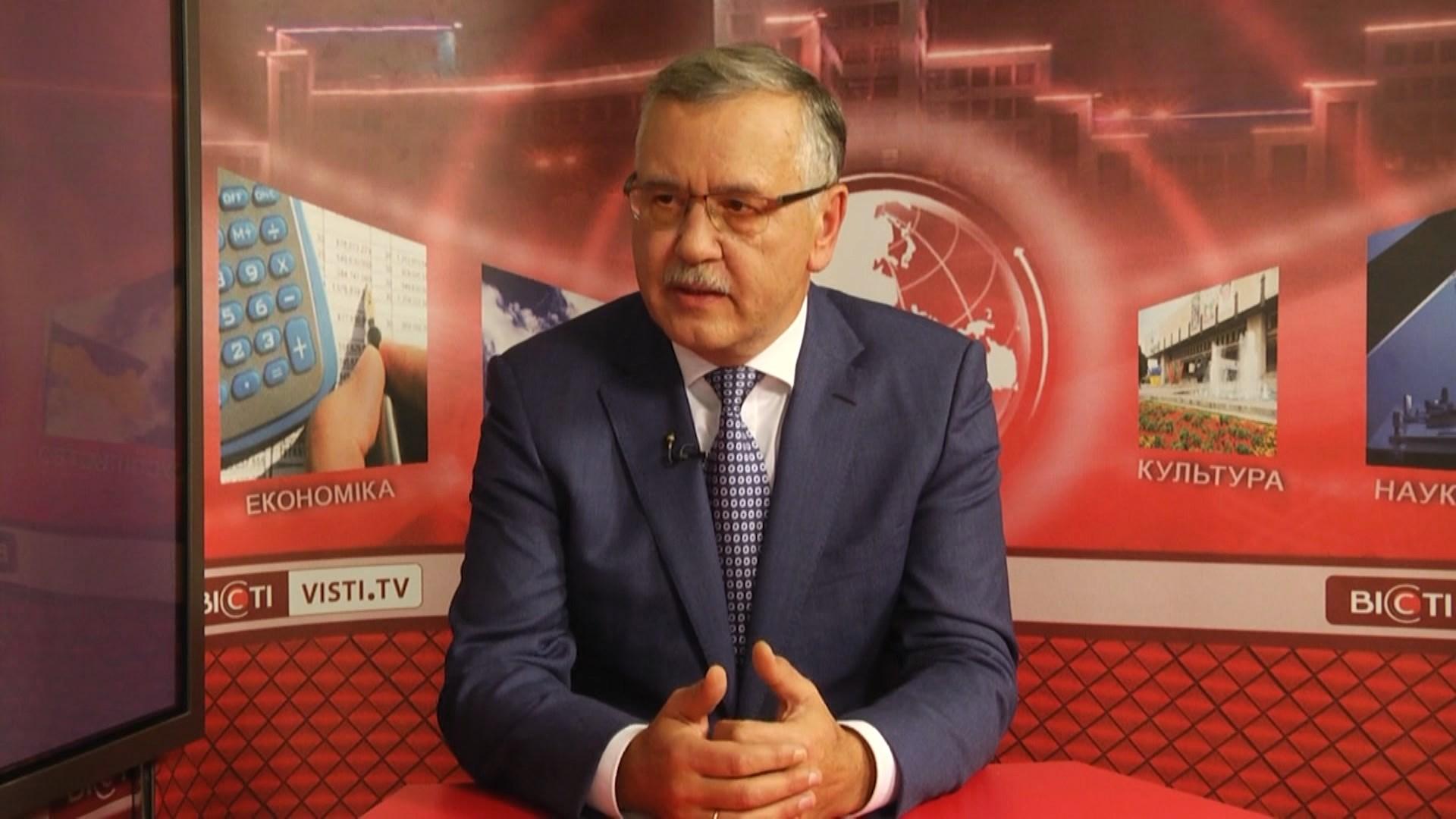 """лідер партії """"Громадянська позиція"""" Анатолій Гриценко."""