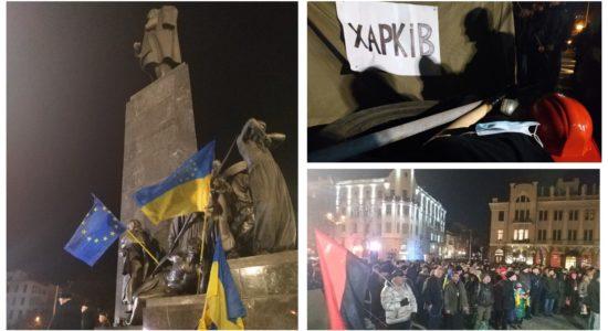 Харків запалив шини, вшановуючи 5-ту річницю Євромайдану