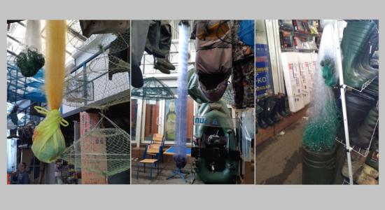 Рибоохоронні патрульні Харківщини вилучили 14 заборонених знарядь лову на місцевому ринку
