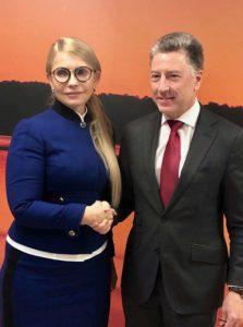 Юлія Тимошенко та Курт Волкер обговорили питання безпеки України