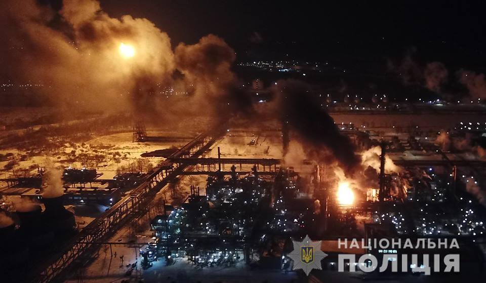У Калуші масштабна пожежа - горів цех КАРПАТНАФТОХІМ